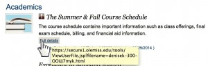 By hovering over the link, you can see this is a valid olemiss.edu address that points to a UM server.