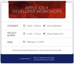 Image of Apple Workshop Schedule