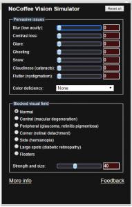 Screenshot from NoCoffee simulator