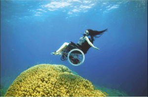 SCUBA chair and coral