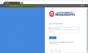 The website is asking for a password, but it is not an olemiss.edu domain. This is phishing.